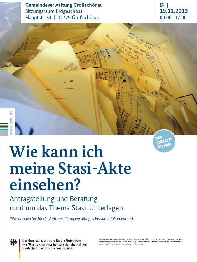 Beratungstag zu Stasi-Unterlagen in Gro�sch�nau | G�rlitzer-Anzeiger